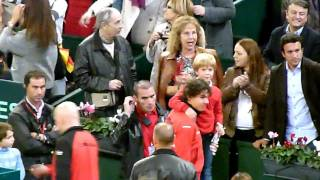 Rafa Hugging and Kissing His Family After the Final
