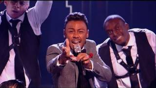 Marcus Collins does his best Freddie Mercury - The X Factor 2011 Live Show 6 - itv.com/xfactor