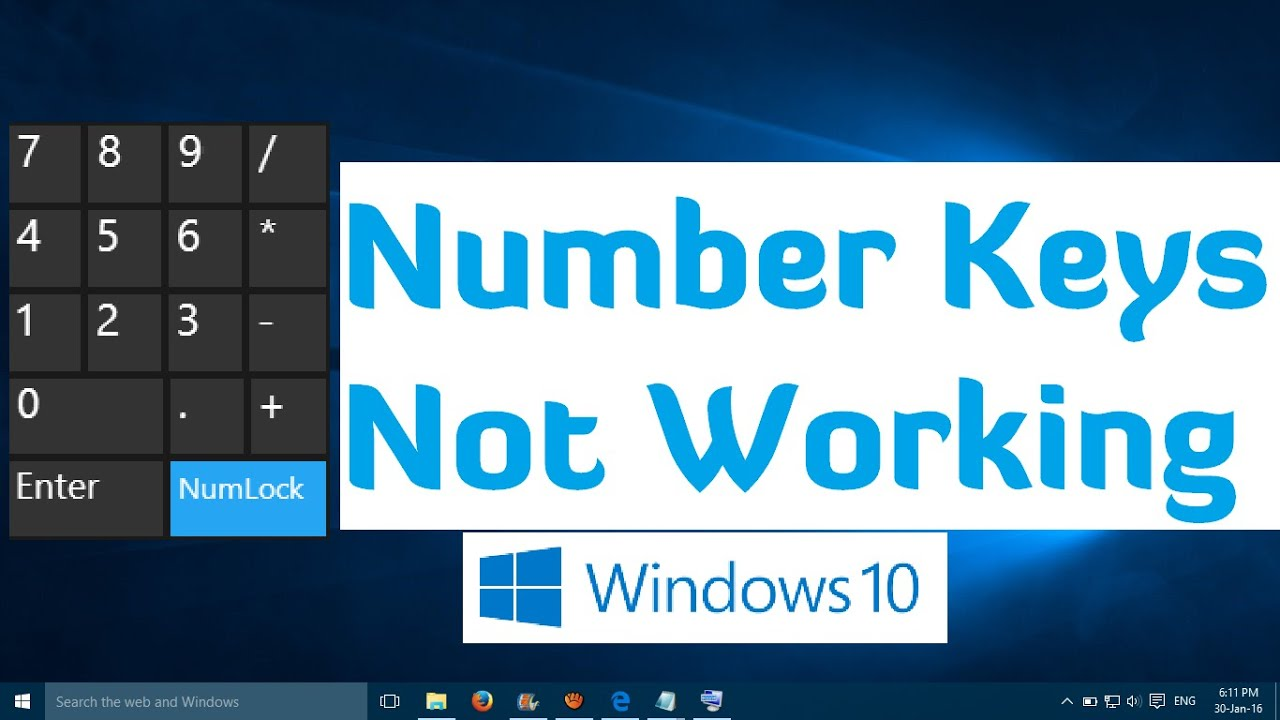 Number Keys not Working in Windows 10 - 1 Simple Fix - YouTube