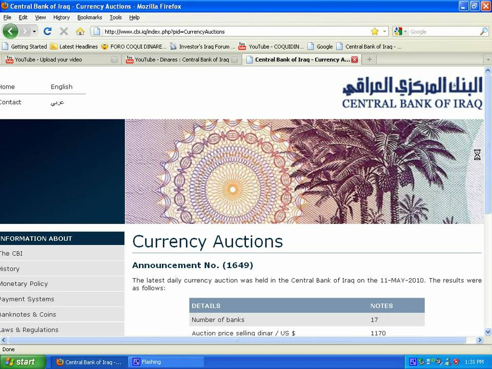 Dinares Central Bank Of Iraq Official Website