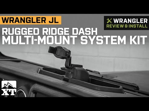 Jeep Wrangler JL Rugged Ridge Dash Multi-Mount System Kit Review & Install