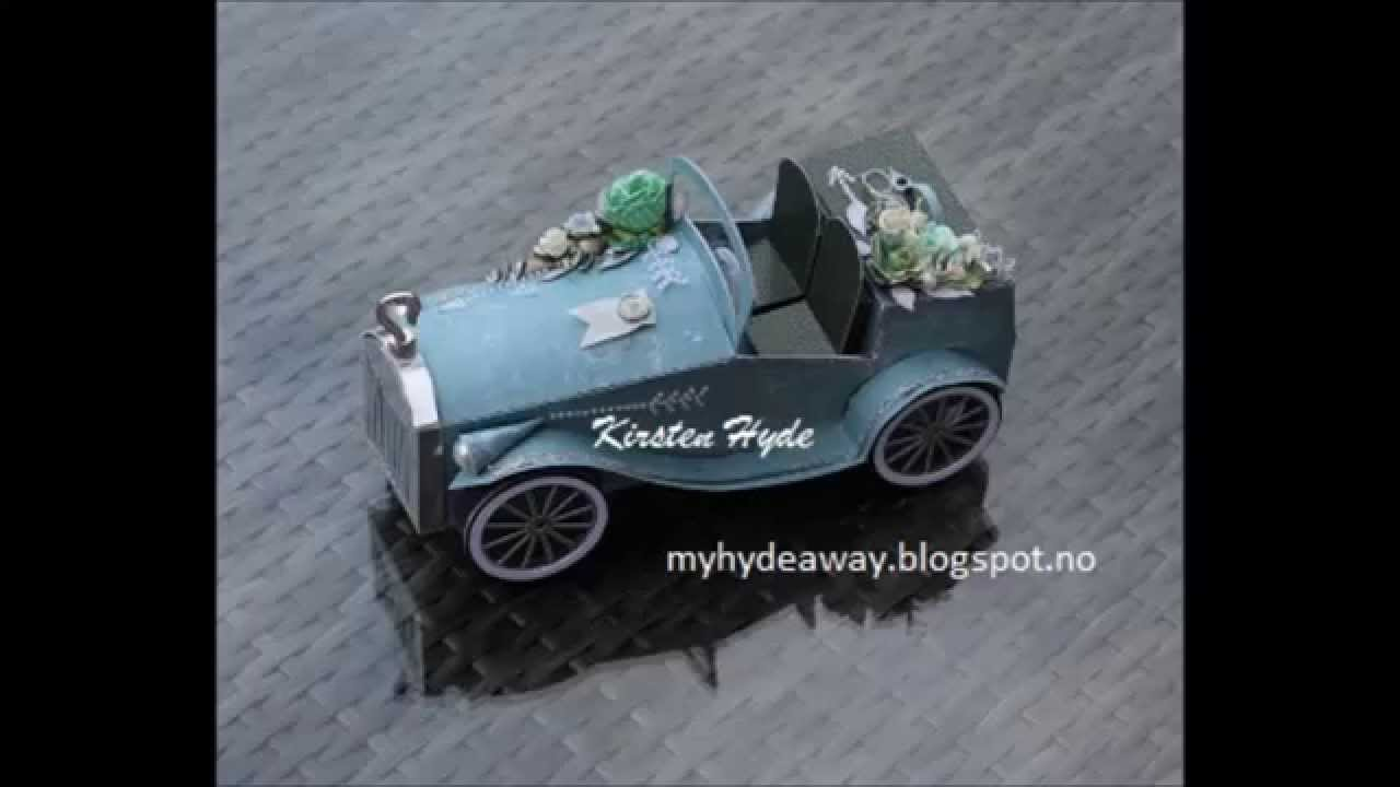 Paper vintage car tutorial - YouTube