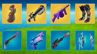 Evolution of All Mythic & Exotic Weapons & Items in Fortnite (Season 1 to Season 16)