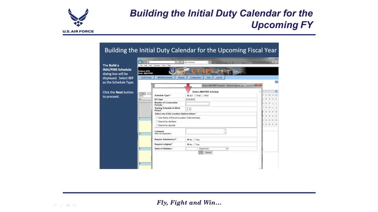 how to build idt schedule in utapsweb youtube