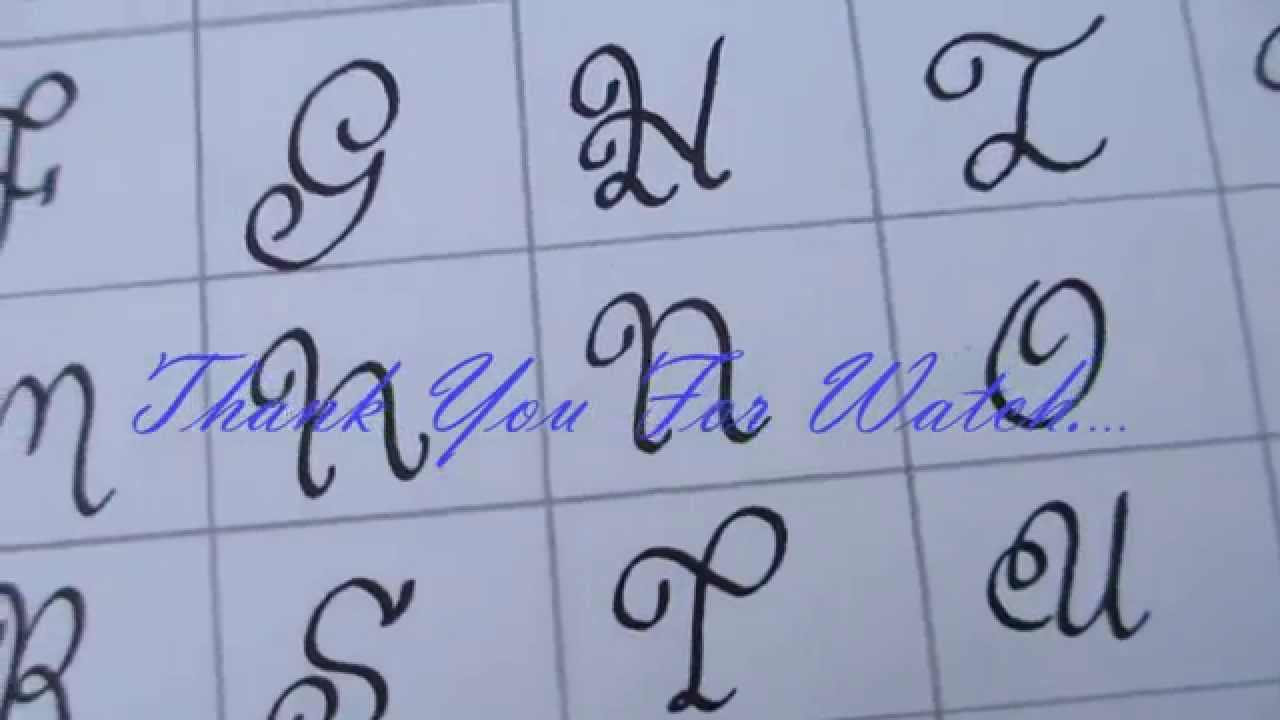 Easy Curve Font Part 2 Calligraphy 101 Youtube