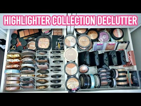 BEAUTY ROOM DECLUTTER   MY HIGHLIGHTER COLLECTION
