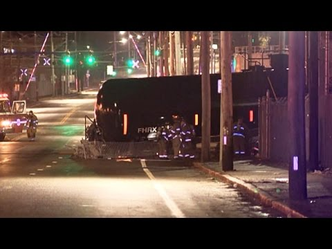 Freight Train From Worcester Crashes Through Barrier Onto Providence Street