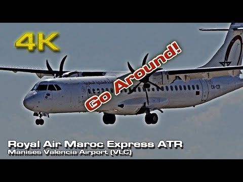 To land or not to land [4K] (RAM ATR go around) Valencia (CN-COI)