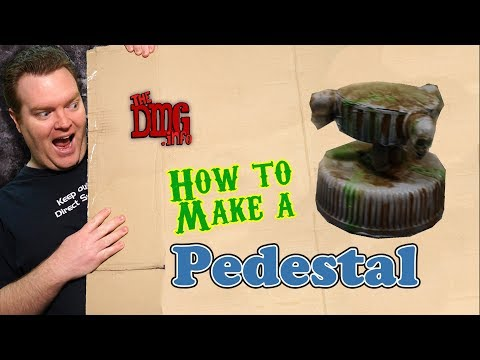 How to make a miniature pedestal cheaply for your dungeon terrain DMG#130