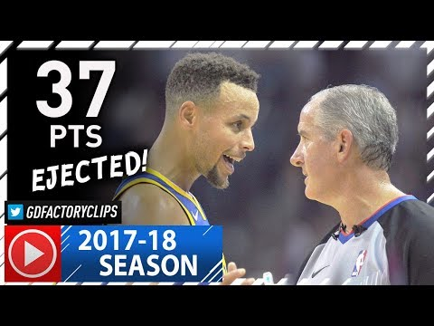Stephen Curry vs Referee, Full Highlights vs Grizzlies (2017.10.21) - 37 Pts + EVERY FOUL CALL!