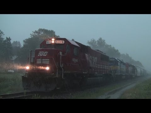 SOO 6046 West, In a Thunderstorm, at...