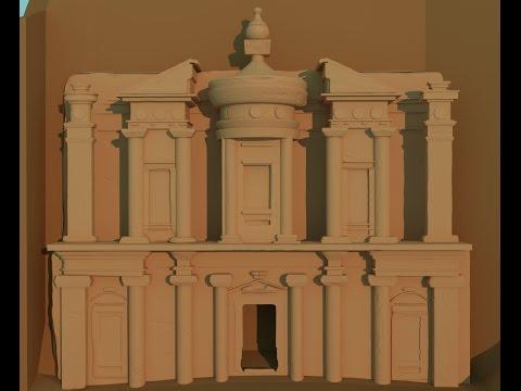 Blender 3-D 2.78 modeling Petra archaeological city part 2
