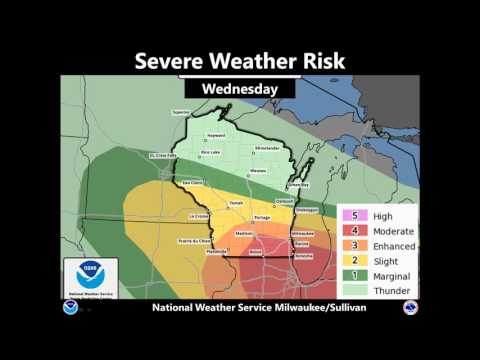 Repeat 'Slight risk' of severe weather tomorrow by wgaltv