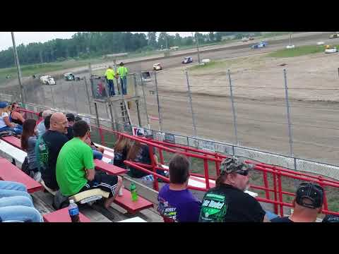 Aj Ward Racing 6/8/18@ I-96 Speedway heat race
