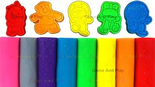 Learn Colors with Play Doh Modelling Clay and Pororo and Friends Molds