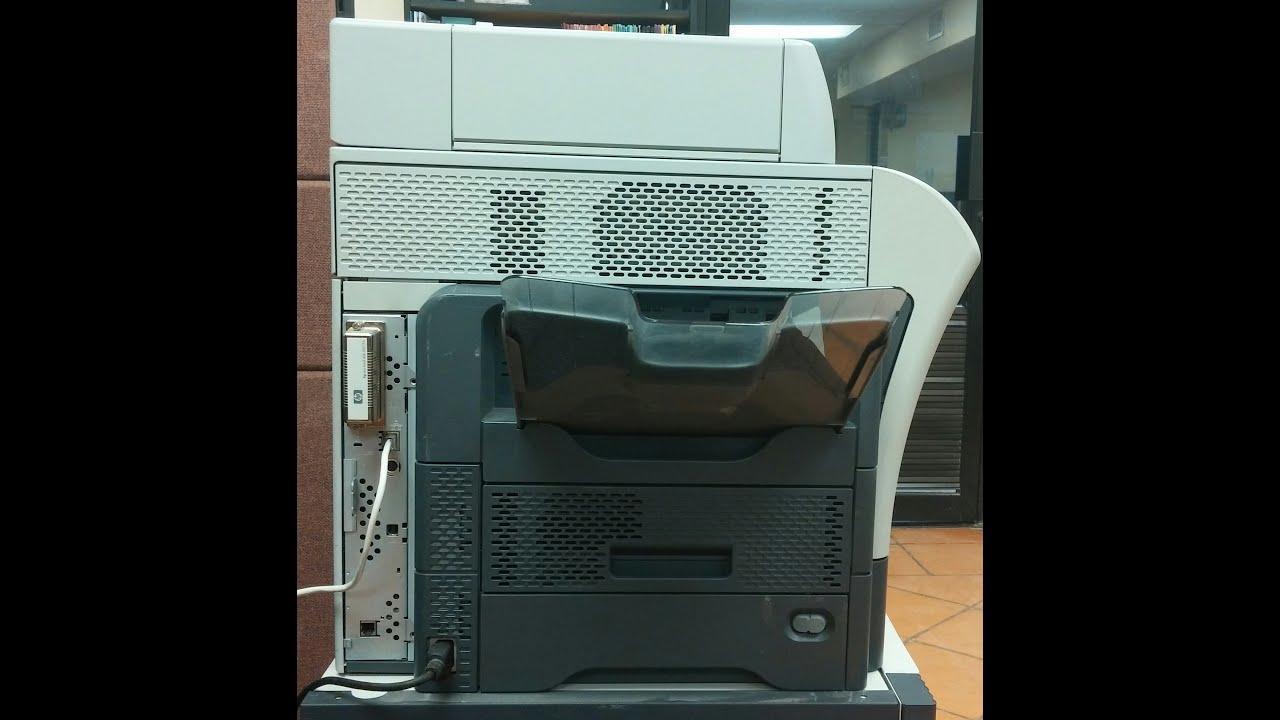Configurar Red TCP/IP en una impresoras HP m4345 - YouTube