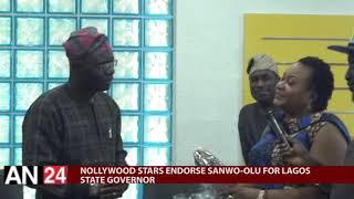 PASUMA  OGA BELLO YINKA QUADRI OTHER NOLLYWOOD STARS ENDORSE SANWO-OLU FOR LAGOS STATE GOVERNOR