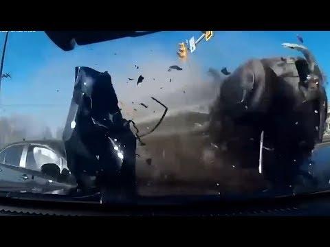 #058 Подборка дорожных аварий в США