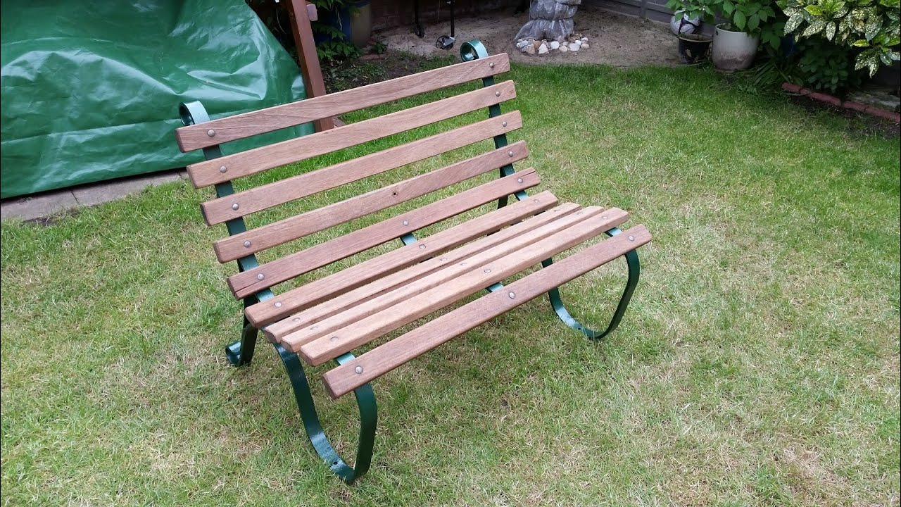 How to restore a teak and metal garden bench - YouTube
