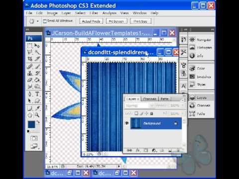 Digital Scrapbooking Tutorials - Make Elements From Layered Templates Photoshop