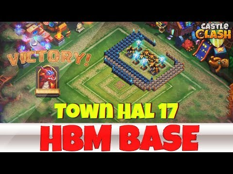 Building An HBM BASE | TOWN HALL 17 | #2 | CASTLE CLASH