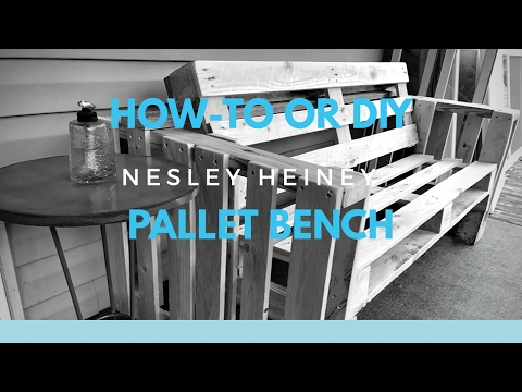 How-To or DIY Bench From Two Pallets