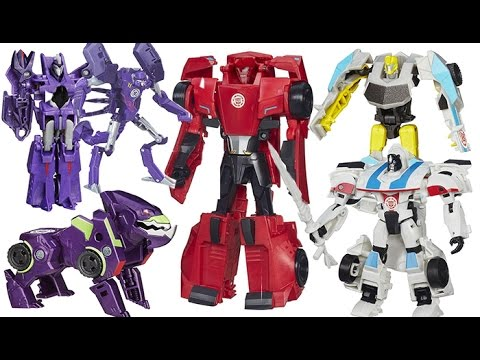 TRANSFORMERS ROBOTS IN DISGUISE SIDESWIPE, JAZZ, BUMBLEBEE, CLASH, PARALON, QUILFIRE, UNDERBITE TOYS