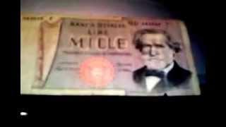 BANCONOTA DA MILLE LIRE GIUSEPPE VERDI II TIPO 1969 1981 CHE NOSTALGIA!!! EMATUBE 14 11 2009
