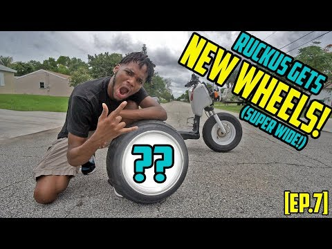 RUCKUS GETS NEW WHEELS! - Honda Ruckus Build [EP.7]