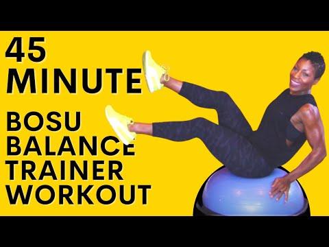 45 Minute BOSU Ball HIIT Workout | Bodyweight | Calorie Burning Workout| Total Body