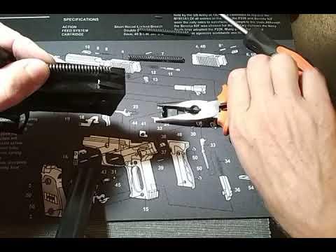 Sig Sauer P226 - снятие боевой пружины.