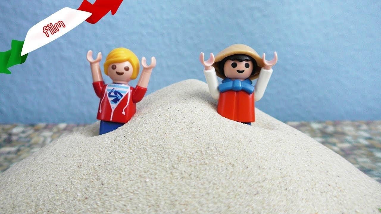 Playmobil film italiano| Matze è stato sepolto dalla sabbia - CANTIERE PERICLOSO|