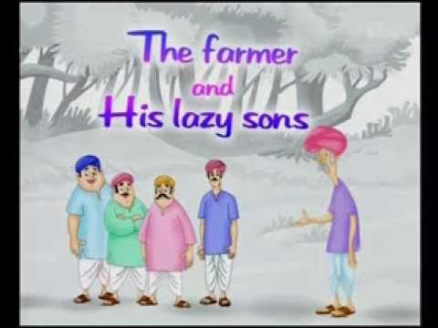 The Farmer and His Lazy Sons | Hindi Stories For Kids
