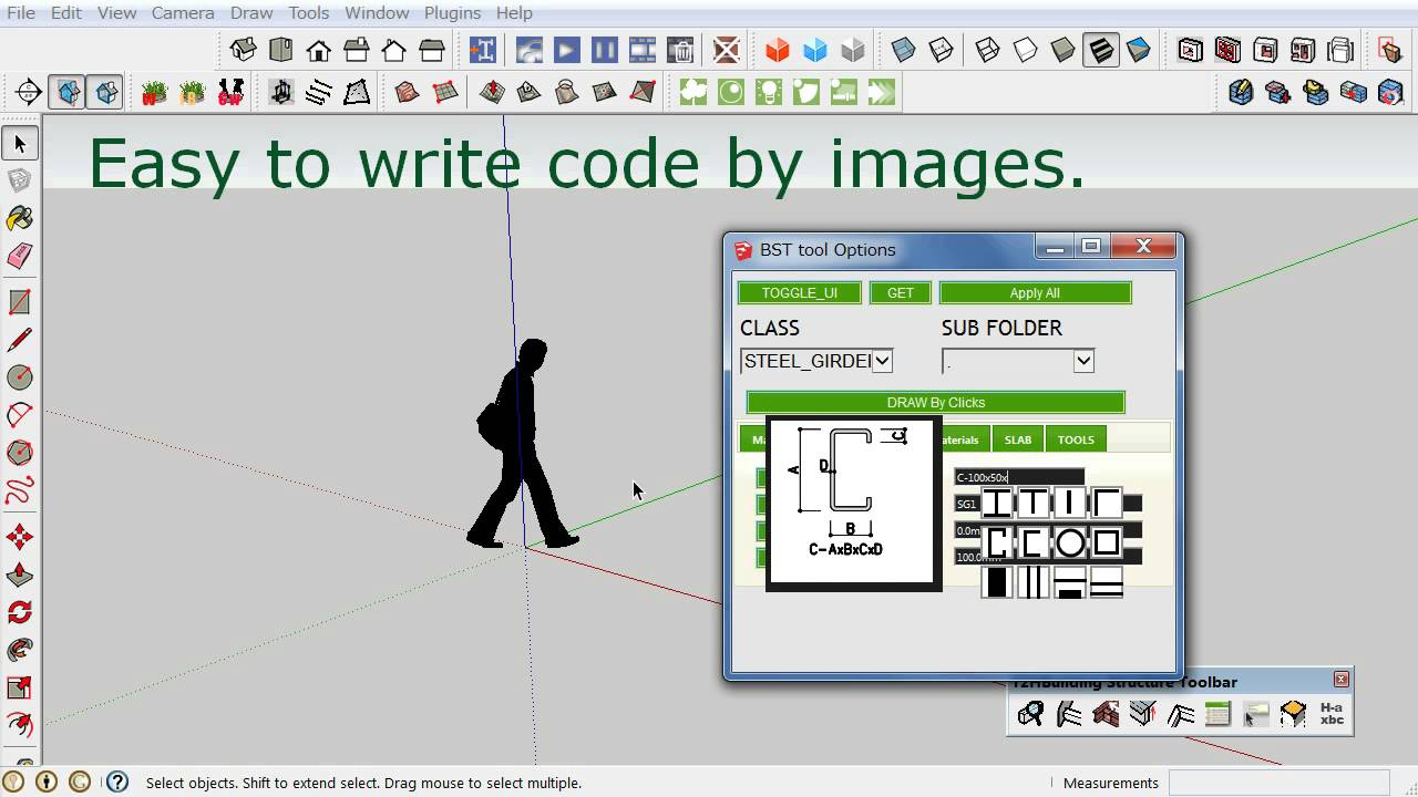 building structure tool google sketchup plugin download