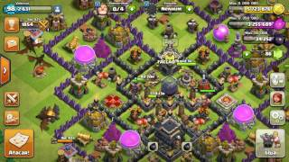 Clash of clans ataca de dragão cv9