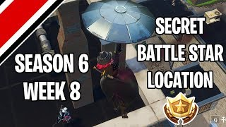 Fortnite Season 6 Week 8 Secret Battlestar/Battle Flag Location