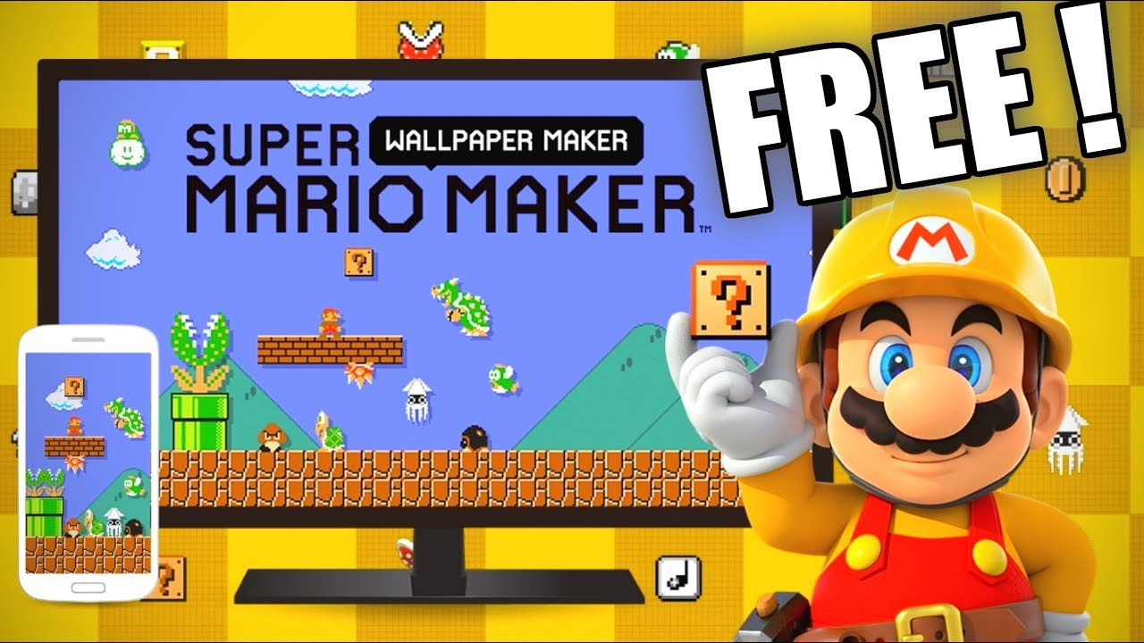 How To Create Your Free Custom Super Mario Maker 2 Wallpaper