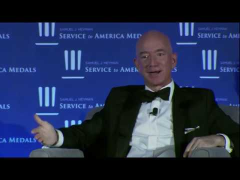 Jeff Bezos On Young People In Government Sammies 2018 Youtube