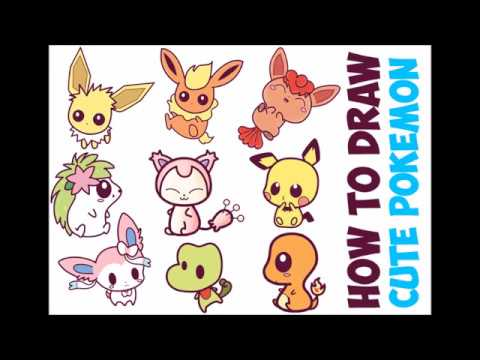 How To Draw Pokemon Characters Cute Chibi Kawaii Baby Easy Step By