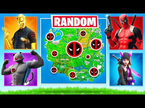 RANDOM BOSS Deadpool CHALLENGE (Fortnite Arena)