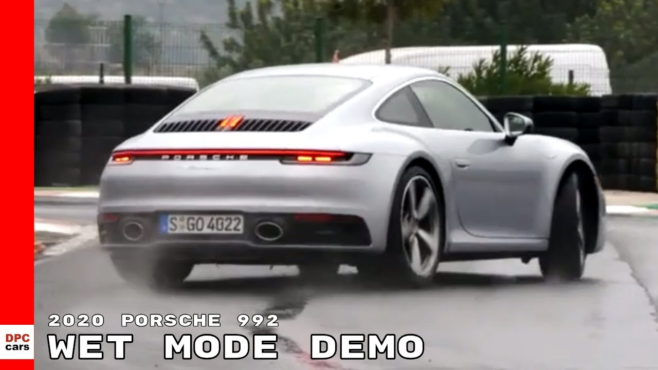 2020 Porsche 992 911 Wet Mode Demo