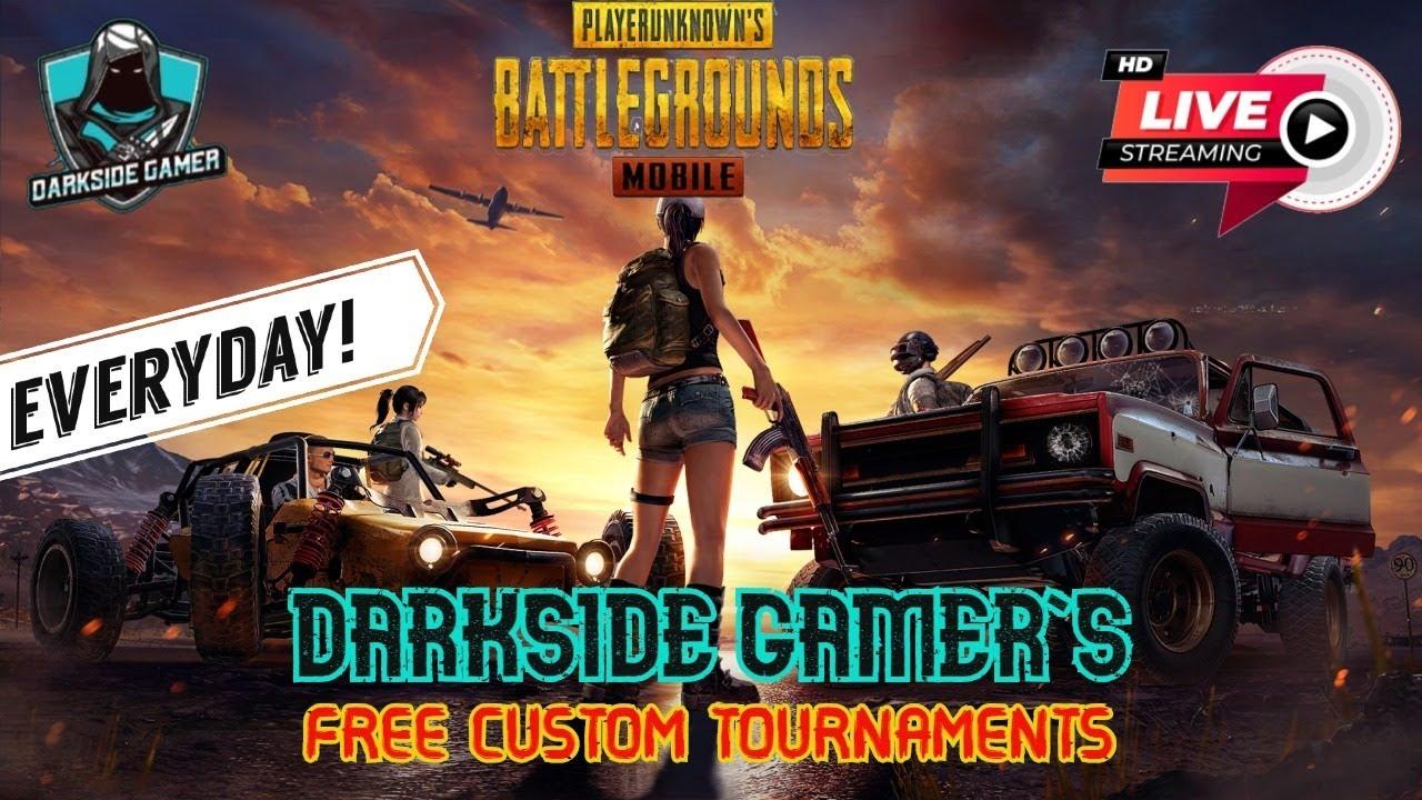 DSG 🔴 Live Streaming   DarkSide Gamer PUBG   UC Giveaway   Friendly free custom Rooms