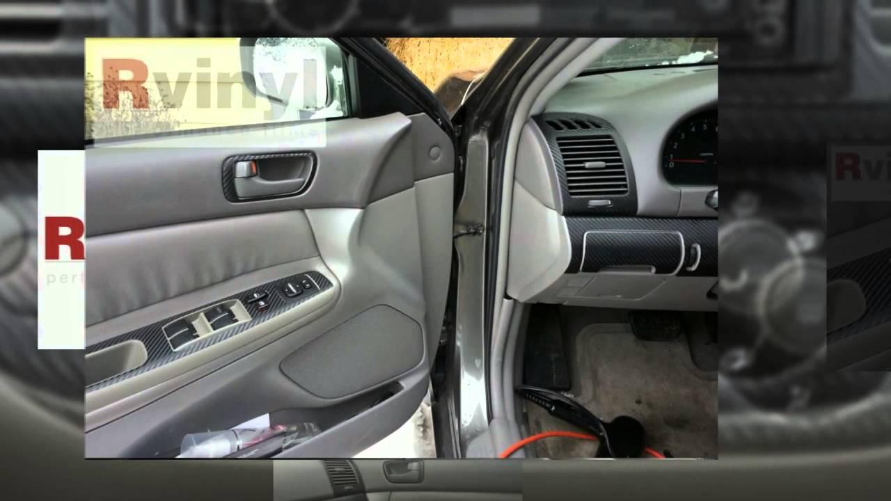 carbon fiber dash kit 2002 2006 toyota camry youtube. Black Bedroom Furniture Sets. Home Design Ideas