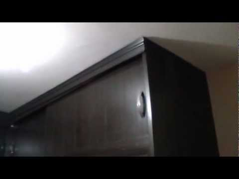 Moldura de madera en closets en escuadra youtube - Molduras para puertas de interior ...