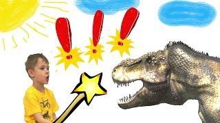 Макс перетворює чарівною паличкою іграшки в цукерки - звідки динозавр?