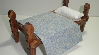 Tutorial Para Hacer Una Cama Con Pinzas De Madera / Tutorial To Make A Bed With Wooden Pegs