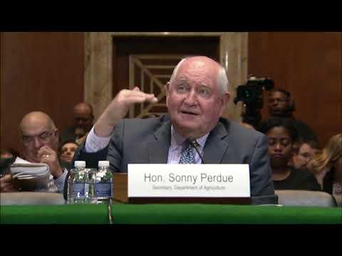 Blunt questions U.S. Agriculture Secretary Sonny Perdue Regarding Trade, RFS 4/11/18