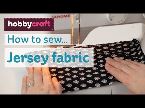 How to sew jersey fabric