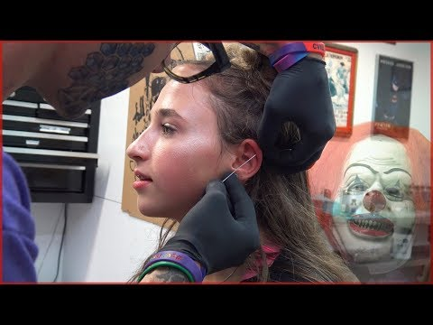 Getting My Ear Cartilage Piercing - Scary Clown Unseen Footage - Build a Bear