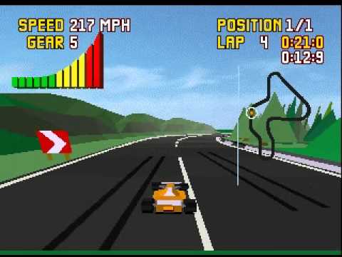 Elegant Checkered Flag (virtual) Atari Jaguar   Much More Playable In An Emulator